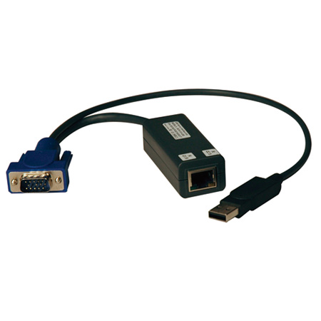 Tripp Lite KVM Switch USB Server Interface Unit Virtual Media HD15 USB RJ45