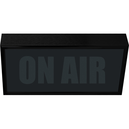 Low Profile Vertical Studio Warning Light - ON AIR in Black Matte