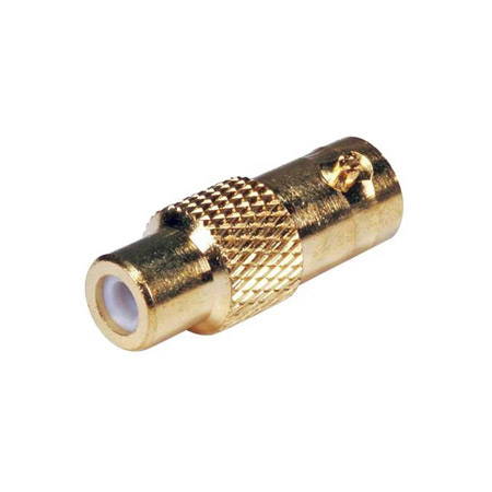 BNC Female to RCA Female Cable Adapter - 75 Ohms Gold Plated