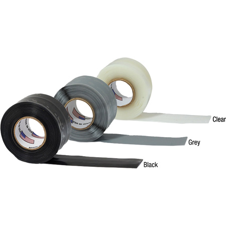 Tommy Tape Self Fusing Silicone Tape 1 Inch x 10 Foot Roll Black Miracle Wrap