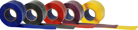 Tommy Nitro Tape Rainbow Pack - Blue / Black / Purple / Red / Yellow - 1 Each - 1 Inch x 10 Foot Rolls Included