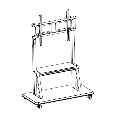 ToteVision CT-55 Monitor Cart