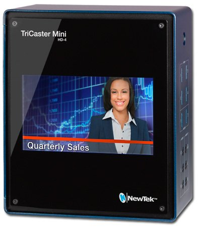Newtek TCMINIHD4I Educational TriCaster Mini HD-4i w/ Integrated Display and 2 Internal Drives