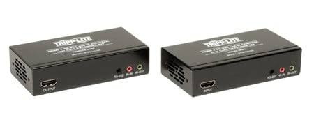 Tripp Lite B126-1A1SR HDMI over Cat5/Cat6 Extender Kit w/ Serial and IR Control - TX/RX 4K x 2K - Up to 328 Feet