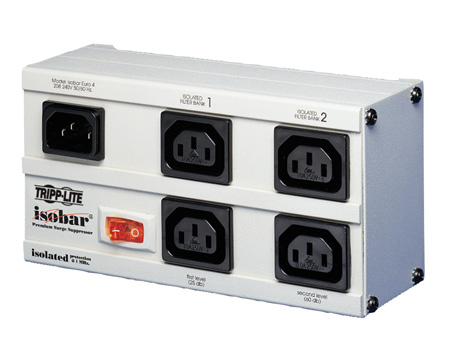 Tripp Lite EURO-4 International Isobar Surge Protector 230V C13 4 Outlet 2M Cord