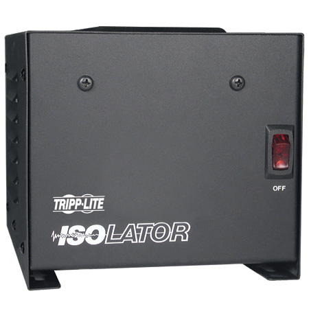 Tripp Lite IS-500 Isolation Transformer 500W Surge 120V 4 Outlet 6ft Cord TAA GSA