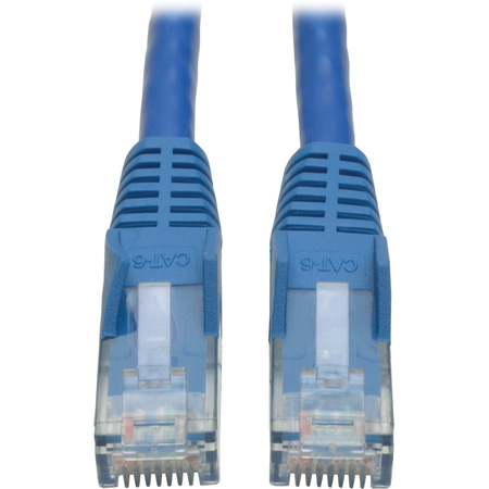 Tripp Lite N201-100-BL Cat6 Gigabit Blue Snagless Patch Cable RJ45M/M - 100 Foot