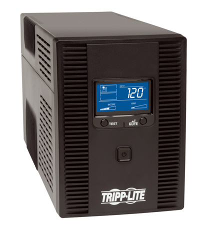 Tripp Lite OMNI1500LCDT 1500VA UPS LCD Battery Back Up Tower AVR 120V USB Coax RJ45