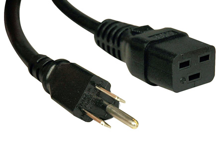Tripp Lite P034-010 10ft Heavy Duty Power Cord 14AWG 15A 125V C19 to 5-15P 10 Foot