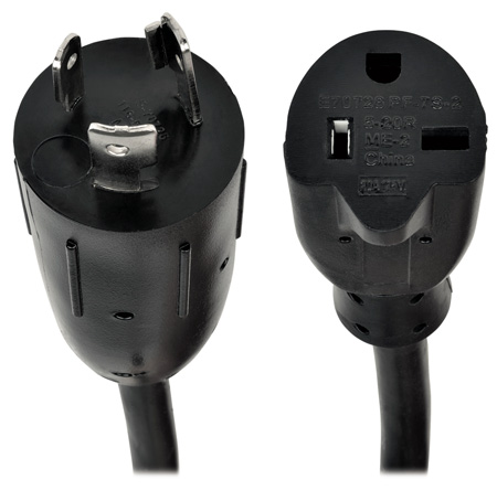 Tripp Lite P046-06N 6 Inch Power Cord Adapter 12AWG 20A 100-250V L5-20P to 5-20R 6 Inch