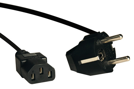 Tripp Lite P054-006 6ft Power Cord Adapter 10A 250V C13 to European Schuko Plug 6 Foot