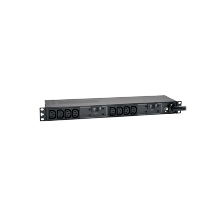 Tripp Lite PDUH30HV 5/5.8kW Single-Phase Basic PDU 208/240V Outlets (10 C13) L6-30P 12 Foot Cord 1U Rackmount