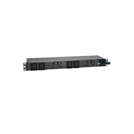 Tripp Lite PDUH30HV19 5/5.8kW Single-Phase Basic PDU 208/240V Outlets (4 C19) L6-30P 12 Foot Cord 1U Rackmount