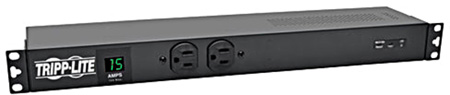 Tripp Lite PDUMH15-ISO 1.44kW Single-Phase Metered PDU Isobar Surge Suppression 120V Outlets 15 Foot Cord Rackmount