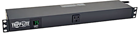 Tripp Lite PDUMH15-RA 1.4kW Single-Phase Metered PDU 120V Outlets (13 5-15R) 5-15P 100-127V input 15 Foot Cord Rackmount