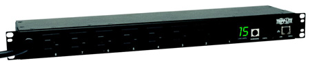 Tripp Lite PDUMH15NET2 PDU Switched 120V 15A 5-15R 8 Outlet 5-15P Horizontal 1URM