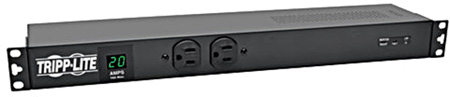 Tripp Lite PDUMH20-ISO 1.92kW Single-Phase Metered PDU Surge Suppression 120V Outlets L5-20P/5-20P 15-Ft. Cord Rackmount