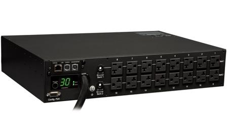 Tripp Lite PDUMNH30 PDU Monitored 120V 30A 5-15/20R 16 Outlet L5-30P Horizontal 2URM