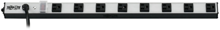 Tripp Lite PS240810 8-Outlet Vertical Power Strip 120V 15A 10 Foot Cord 5-15P 24 Inch