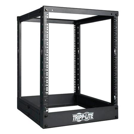 Tripp Lite SR4POST13 13U 4-Post Open Frame Rack Cabinet Square Holes 1000lb Cap.