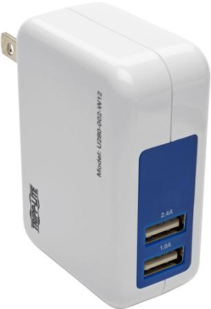 Tripp Lite U280-002-W12 2-Port USB Wall/Travel Charger 5V 3.4A / 17W