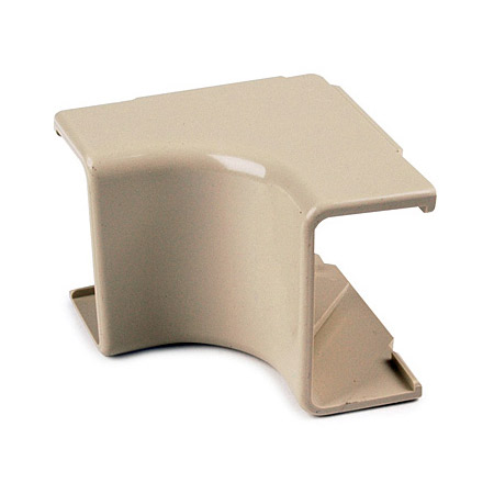 HellermannTyton TSR2W-33-1 1.25 In. Internal Corner Cover White 10 Pk.