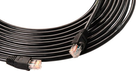 Super Tough Cat 5E cables for Long Life Field Deployment 150Ft