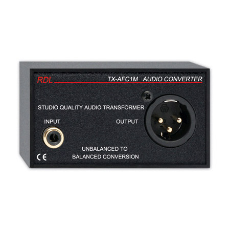 RDL TX-AFC1M Unbalanced to Balanced Audio Transformer - RCA / XLR