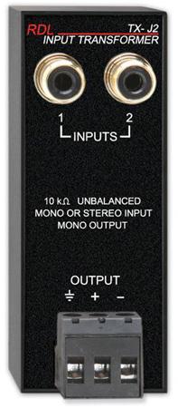 RDL TX-J2 Unbalanced Input Transformer