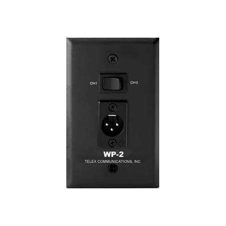 Telex WP-2 Wall Plate W-XLRM and Chan Half Selector Switch