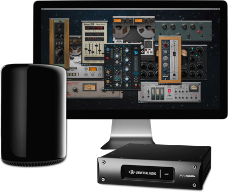 Universal Audio TBSATQCUD UAD-2 Satellite Thunderbolt - QUAD Custom