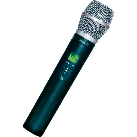 Shure ULX2/SM86 Handheld Transmitter with SM86 Microphone Freq. J1 - (554.025 – 589.975 MHz)