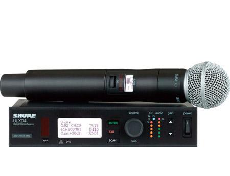 Shure ULXD24/SM58 Handheld Wireless System - SM58 Mic - H50  Freq. 530 - 602 MHz