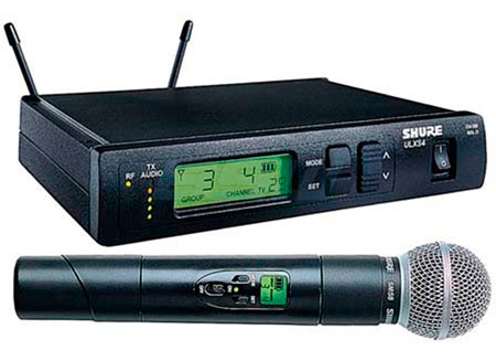 Shure ULXS24-58 Handheld Wireless system with SM58 J1 - (554.025 – 589.975 MHz)