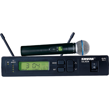 SHURE Single Wireless Handheld System with 1 BETA58 Mic - J1 554 - 590 MHz