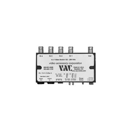 VAC 17-511-114 Video Switcher - 4x1 - BNC - Flex Power