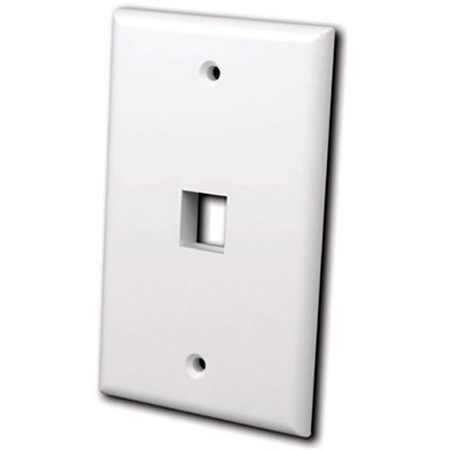 Vanco 820006 Keystone Wall plate 6 port Ivory