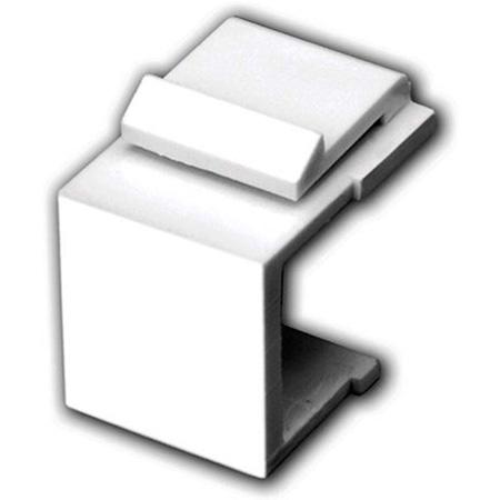Vanco 820430 Blank Keystone Insert- 5 Pack - White