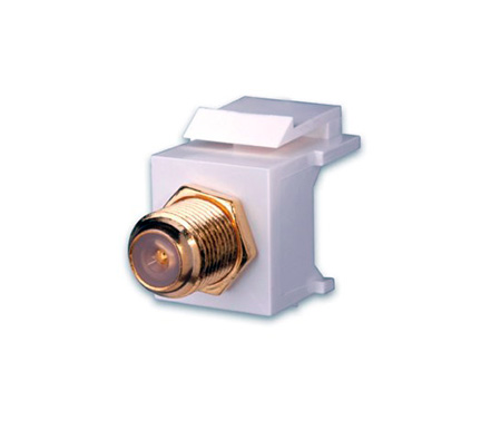 Vanco 820628 F81 Keystone Insert- 3 GHz- Nickel - White