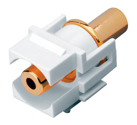 Vanco 820486 3.5mm Keystone Insert 3.5mm Jack to 3.5mm Jack - Ivory