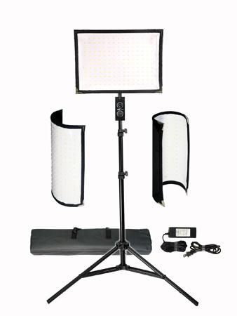 Vidpro Fl 180 Flexible Vari Color Led Light Panel Kit With Stand