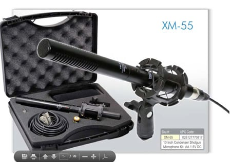 Vidpro XM-55 11 Inch Condenser Shotgun Microphone Kit w/ Case & Accessories