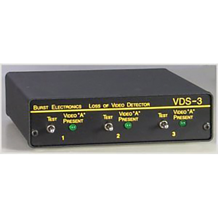 Burst VDS-3D Video Detector Switch 3x Mono Audio Follow-Thru MiniDIN