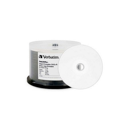 Verbatim 94812 4.7Gb White 8x DVD-Plus-R 50pc Spindle