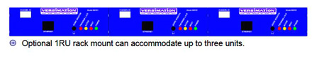 Versimation RM-3 Rackmount Kit Holds Up to 3 Units Side by Side