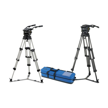 Vinten VB250-CP2 Pan/ Tilt Head- Pan Bars-2-stage Pozi-Loc Tripod-Spreader-Case