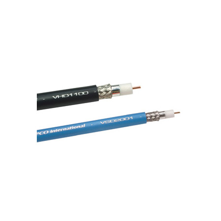 Gepco VSD2001TS Plenum RG6 HD-SDI Coaxial Video Cable 500 Foot Black