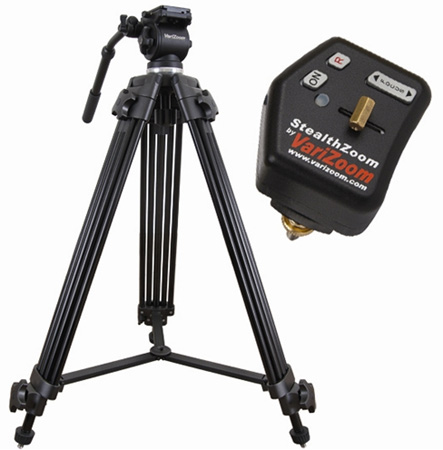 VariZoom VZTK75A-STEALTH Video Tripod and Stealth Lens Control