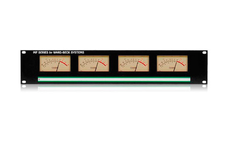 Ward-Beck MP4(2P2V) Rackmount Dual PPM & Dual VU Meter Panel