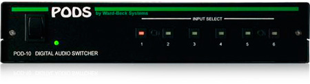 Ward-Beck POD10/75 6x1 AES/EBU Digital Audio Switcher - 75 Ohm Version